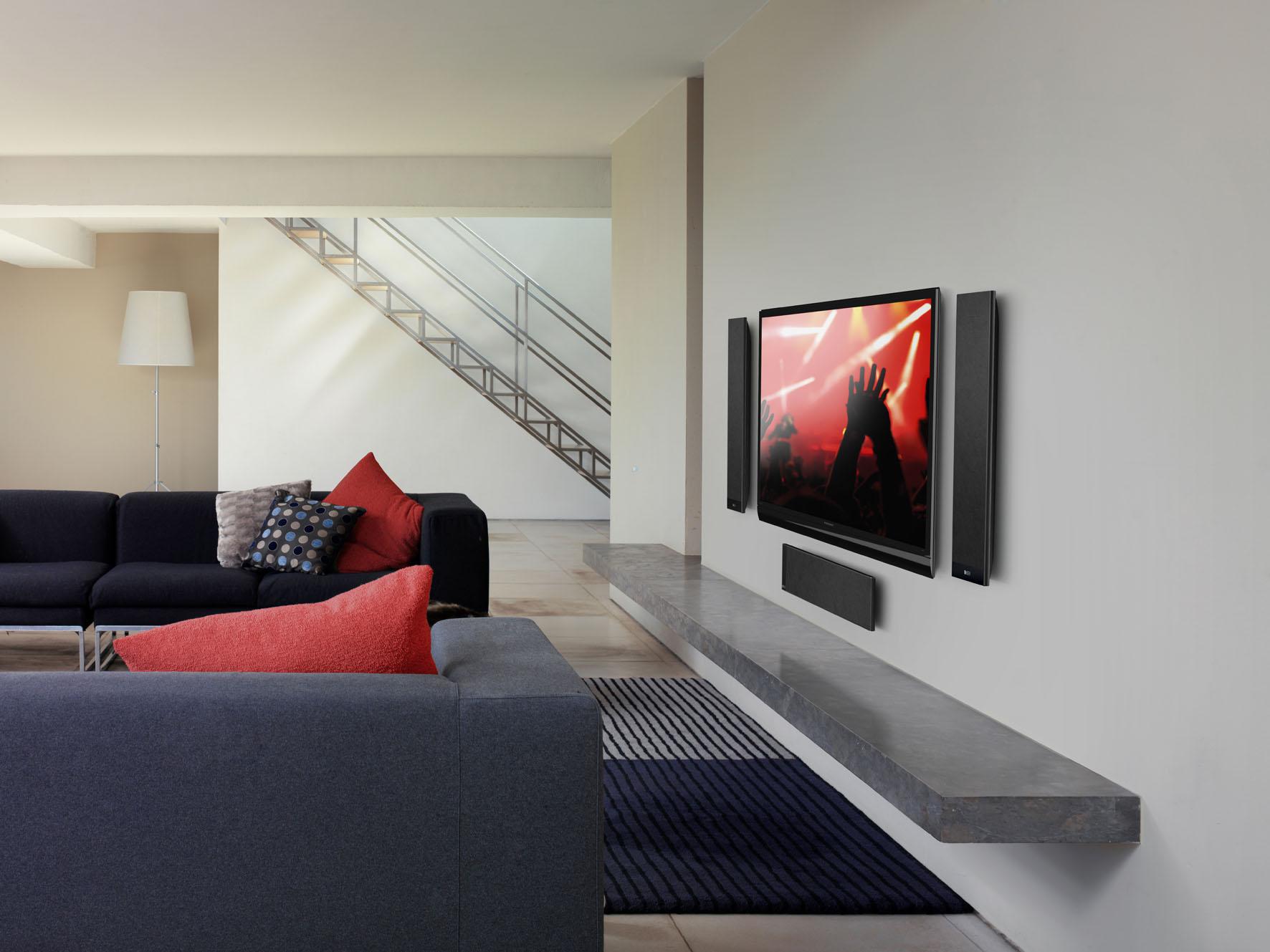 KEFs T-Serie ergänzt Flachbildschirme perfekt