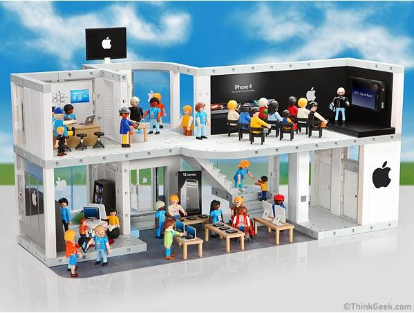 Gar nicht mal so undenkbar: Ein Apple Store von Playmobil