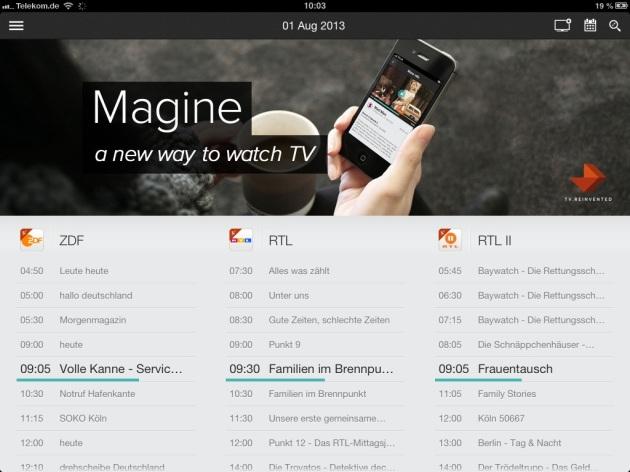 Der TV-Guide von Magine